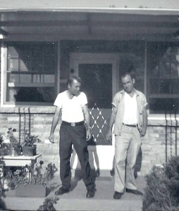 Uncle Billy and Uncle Vernon at the house on Nix Drive
